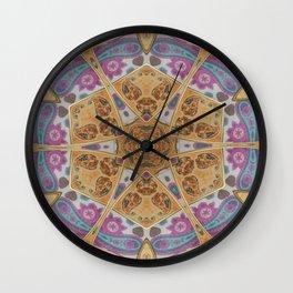 Persian Style Kaleidoscope Wall Clock