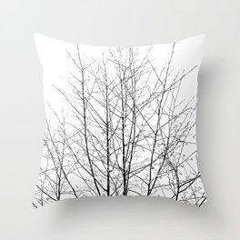 WINTER TREE LIGHT Throw Pillow