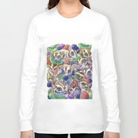 rush Long Sleeve T-shirts featuring Sugar Rush by AndyGarnerFlexner