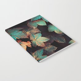 Copper And Teal Leaves Notebook