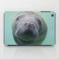 manatee iPad Cases featuring Manatee by Heidi Ingram