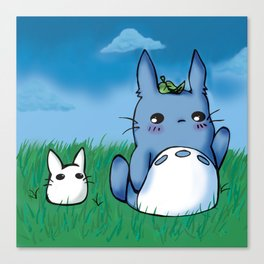 Chibi Totoros Canvas Print
