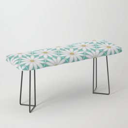 Daisy Hex - Turquoise Bench