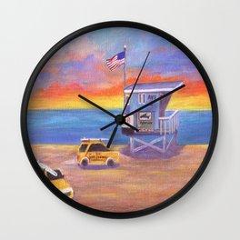 Redondo Beach Lifeguard Tower Wall Clock