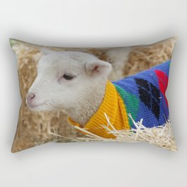 Lamb In from the Cold Rectangular Pillow