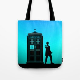 Tardis With The Twelfth Doctor Tote Bag