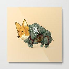 Good Dog! w/ Daggers by Devon Baker Metal Print