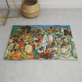 African American Masterpiece Golden State Mural, Exploration and Colonization by Charles Alston Rug