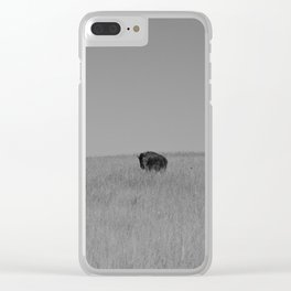 Two Tallgrass Bison Clear iPhone Case