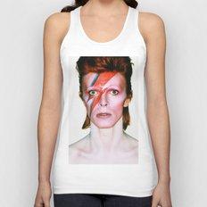 David Bowie Portrait Unisex Tank Top