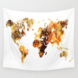 Design 102 World Map Wall Tapestry