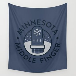 Minnesota Middle Finger Wall Tapestry