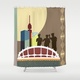 Eko Akete Shower Curtain