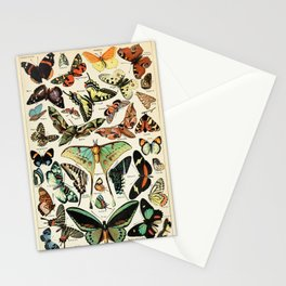 Papillon I Vintage French Butterfly Charts by Adolphe Millot Stationery Cards