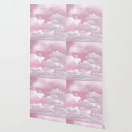 Clouds in a Pink Sky Wallpaper