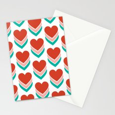 Sweethearts (Red, Pink & Turquoise) Stationery Cards