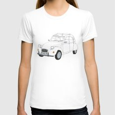 Citroën 2CV White Womens Fitted Tee LARGE