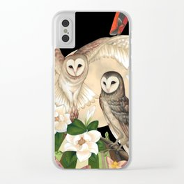 Owls + Moths Clear iPhone Case
