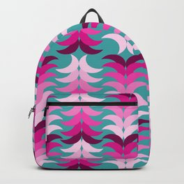 tropical floral on blue Backpack