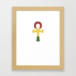 Jamaican Flag Rasta Ankh Rastafarian Egyptian Cross Framed Art Print