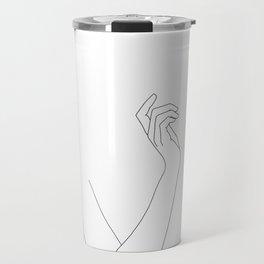 Hand and body illustration - Alma Travel Mug