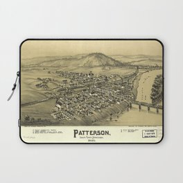 Aerial View of Patterson (Mifflin), Pennsylvania (1895) Laptop Sleeve