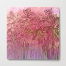 Bamboo Sunrise Metal Print