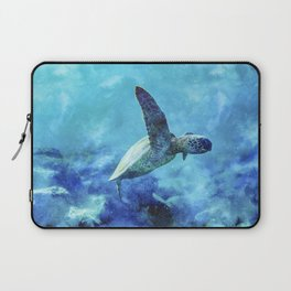 Sea Turtle Into The Deep Blue Laptop Sleeve