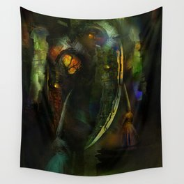 Sacrifices for Cyber Cyclops Wall Tapestry