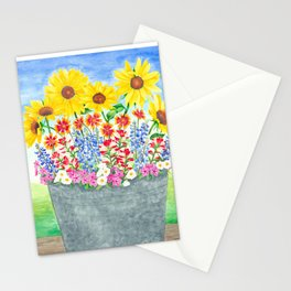 Bucket of Wildflowers Stationery Cards