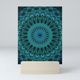 Sea blue and green mandala Mini Art Print