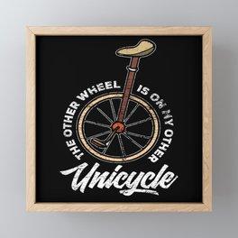 Unicycle Bike Framed Mini Art Print