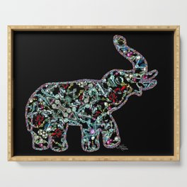 Princess Jewels the Elephant, Scanography Bling Serving Tray