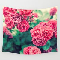 flora Wall Tapestries featuring Flora by Laura Ruth