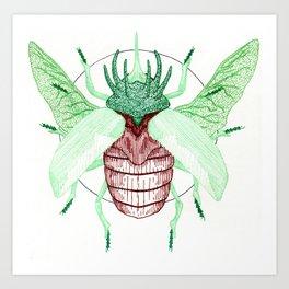 Thorned Atlas Beetle Art Print