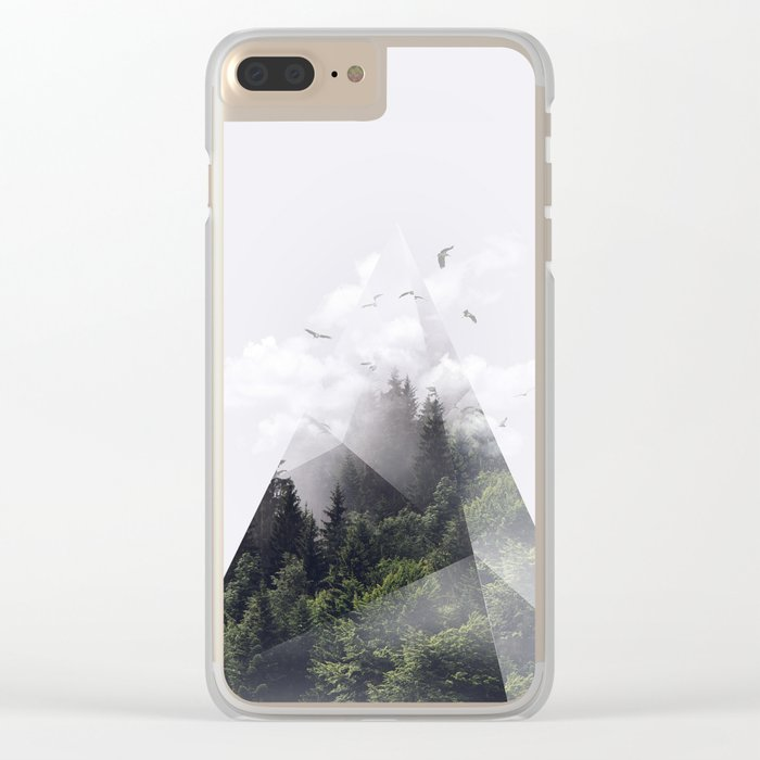 Forest triangle Clear iPhone Case