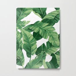 Tropical banana leaves IV Metal Print