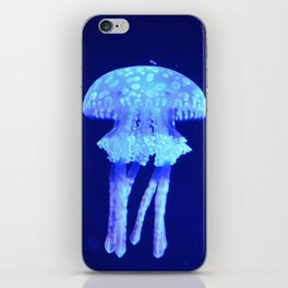 Blue jellyfish iPhone Skin