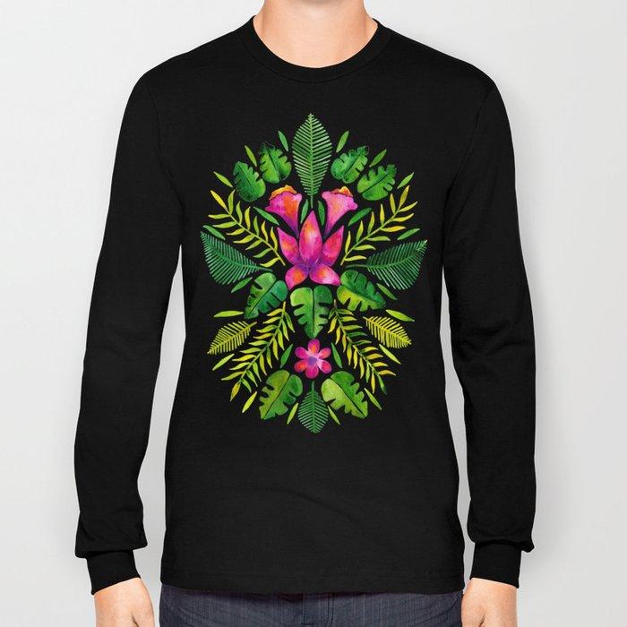 Tropical Symmetry – Pink & Green Long Sleeve T-shirt
