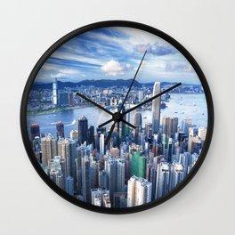 Hong Kong-Buildings Wall Clock