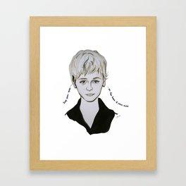 keep your eyes Framed Art Print