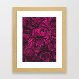 Berry Fuchsia Roses Framed Art Print
