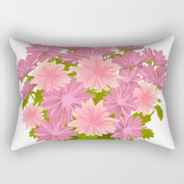 Pink asters in blue vase Rectangular Pillow