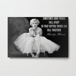 Mari-lyn Monroe Art Canvas Ma-rilyn Monroe Quotes B&W Art Poster Canvas Printed Picture Wall Art Metal Print