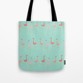 MARCH OF THE FLAMINGOS Tote Bag