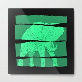Elephant Art Metal Print