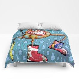 Cyclopian Beauty in her Wellies / Galoshes Comforters
