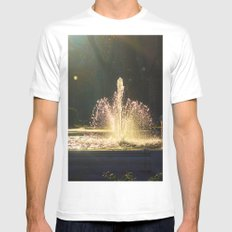 The Fountain of Apollo, Madrid White Mens Fitted Tee MEDIUM
