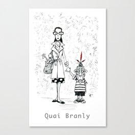 A Few Parisians by David Cessac: Quai Branly Canvas Print