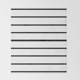 Simple Black and White Lines Decor Throw Blanket
